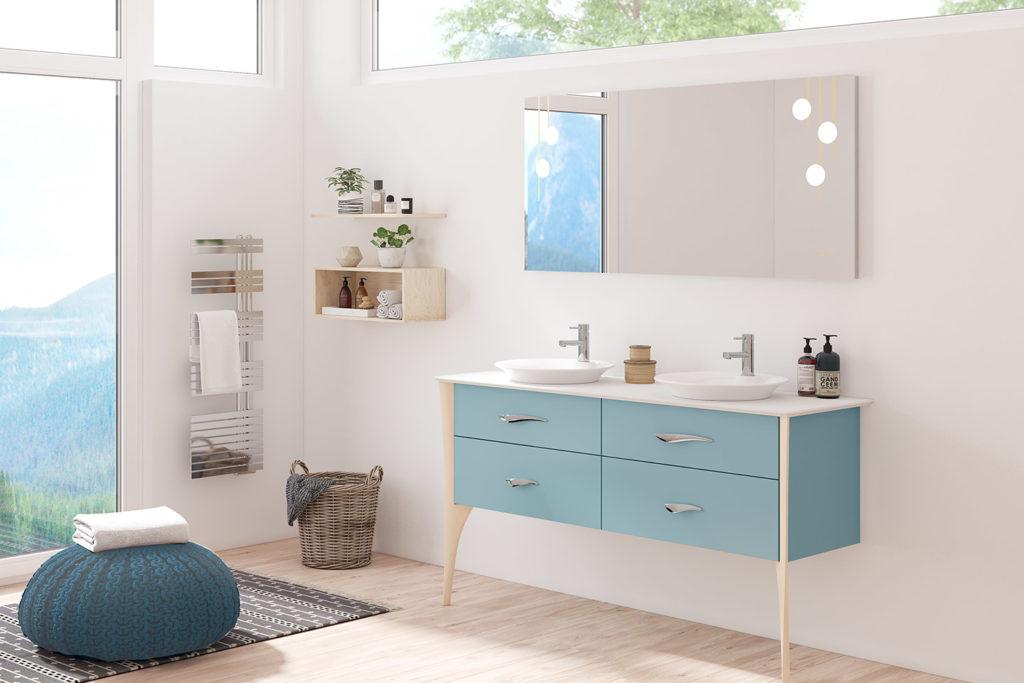 Meuble double vasque Organic par DECOTEC