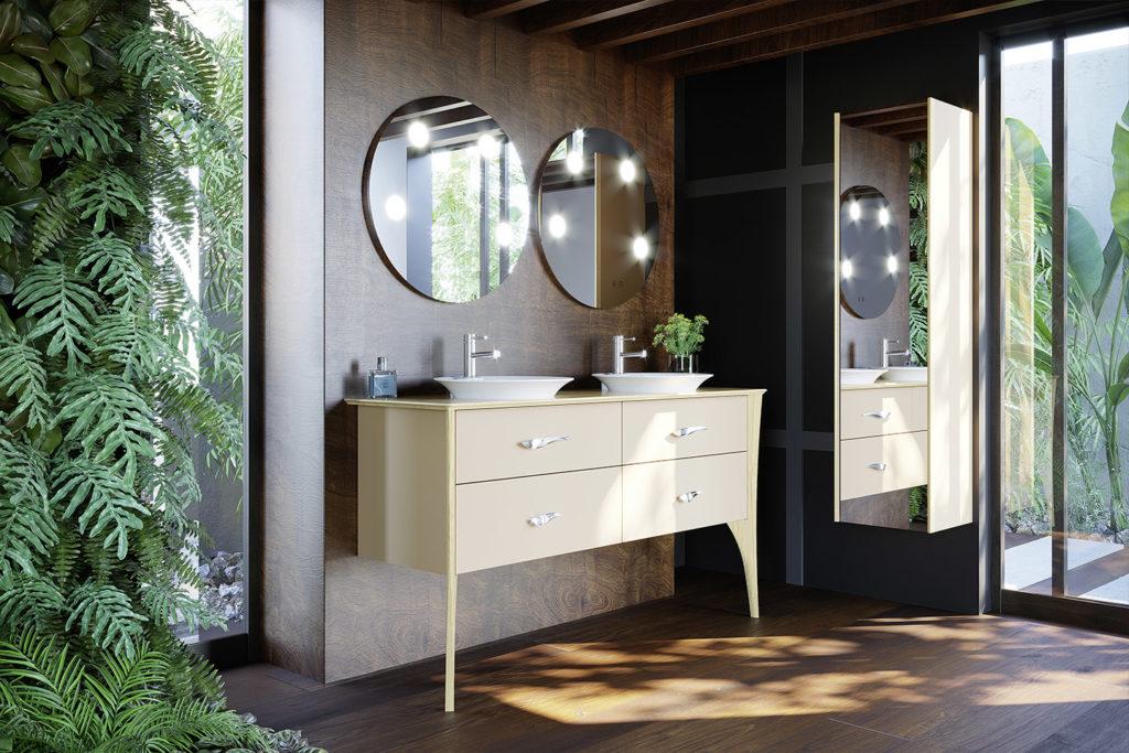 Meuble simple vasque Organic par DECOTEC