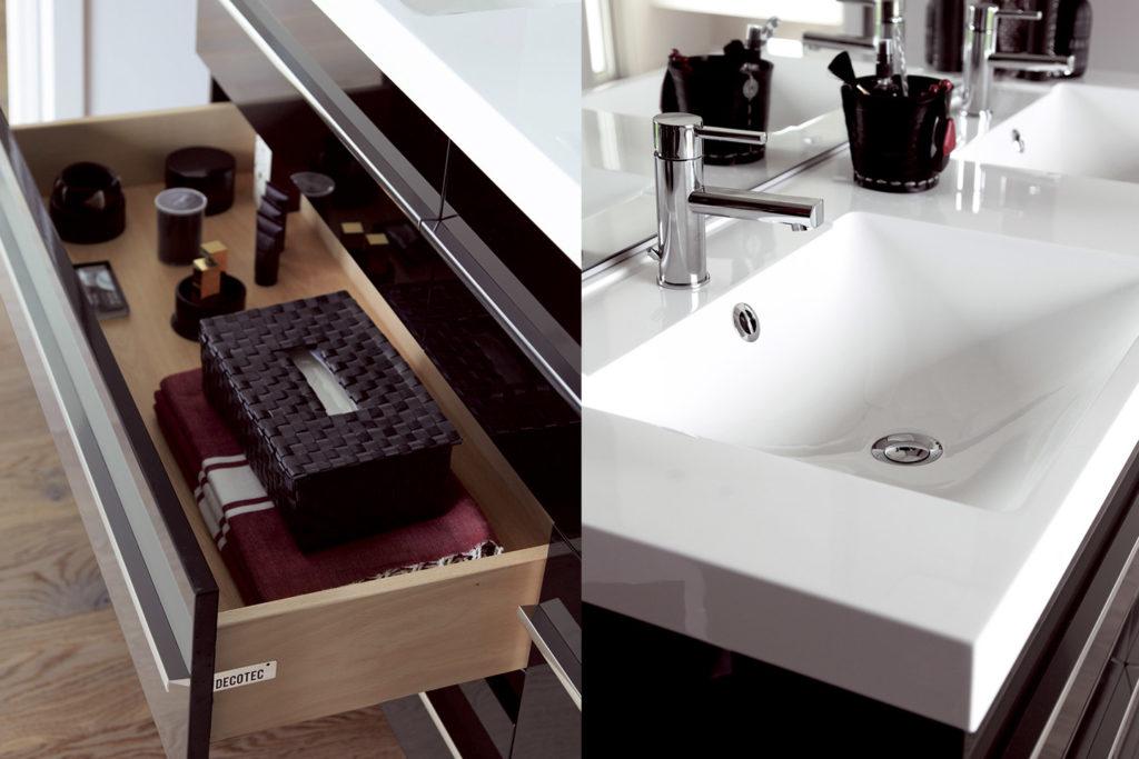 Meuble vasque monobloc Rivoli par DECOTEC