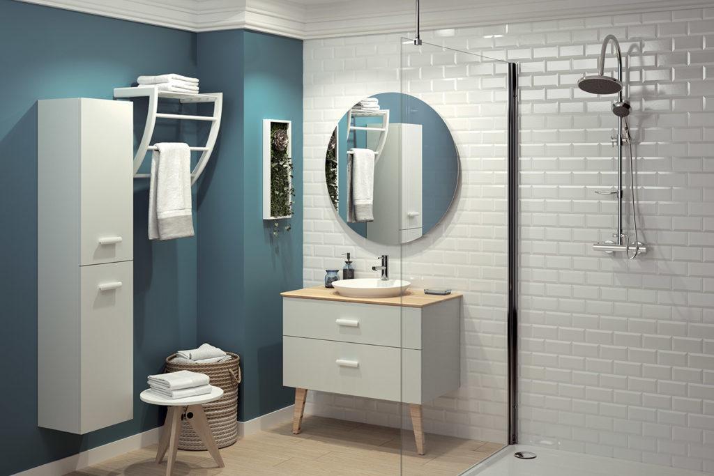 Hygge vanity unit 2 drawers by DECOTEC