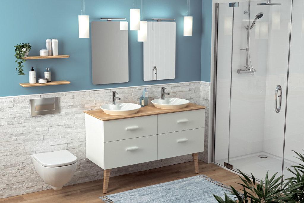 Hygge 4 drawer vanity unit by DECOTEC