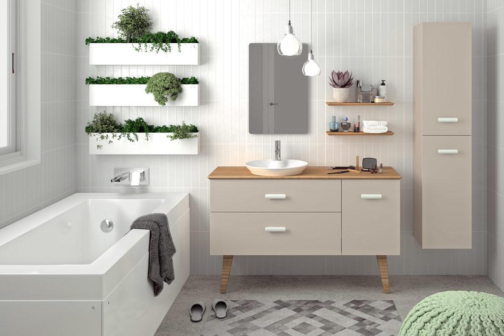 Hygge vanity unit 2 drawers, 1 door by DECOTEC