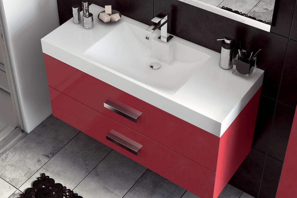 Obbo single washbasin unit by DECOTEC