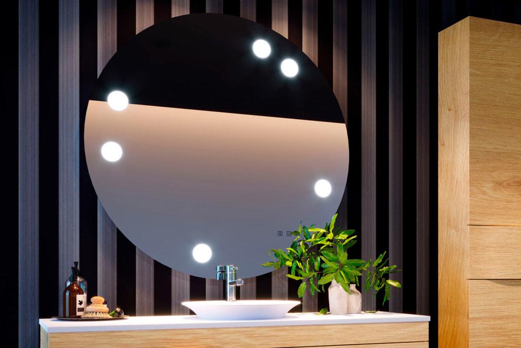 Miroir de salle de bains Tiffany rond par DECOTEC