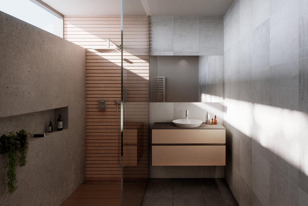 Karma suspended bathroom cabinet by DECOTEC