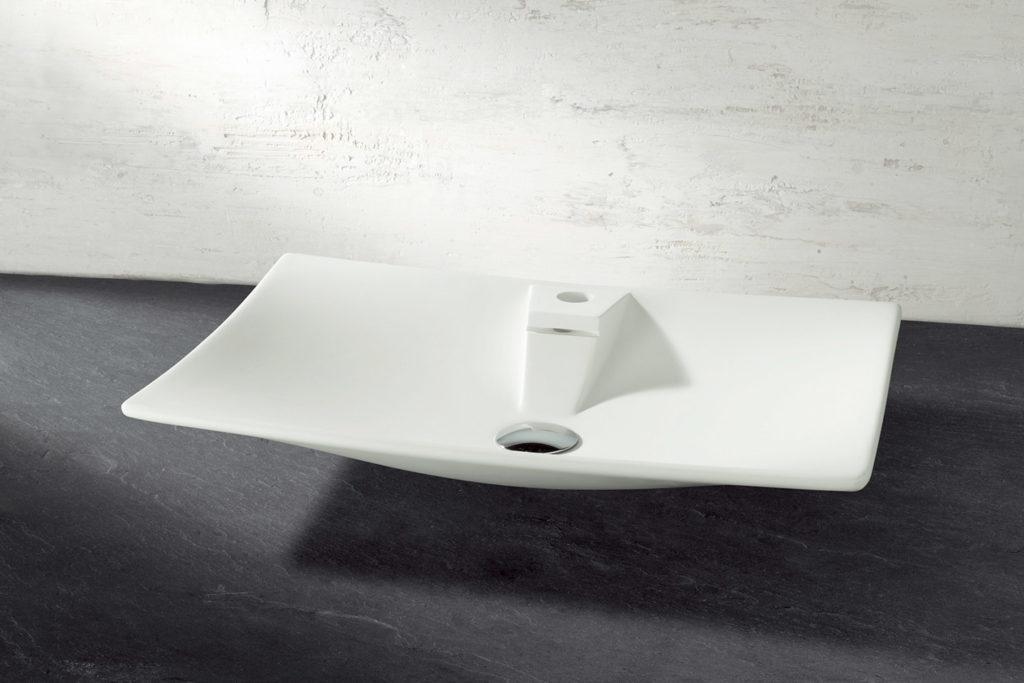 Vasque à poser Rialto avec trop plein intégré 60cm