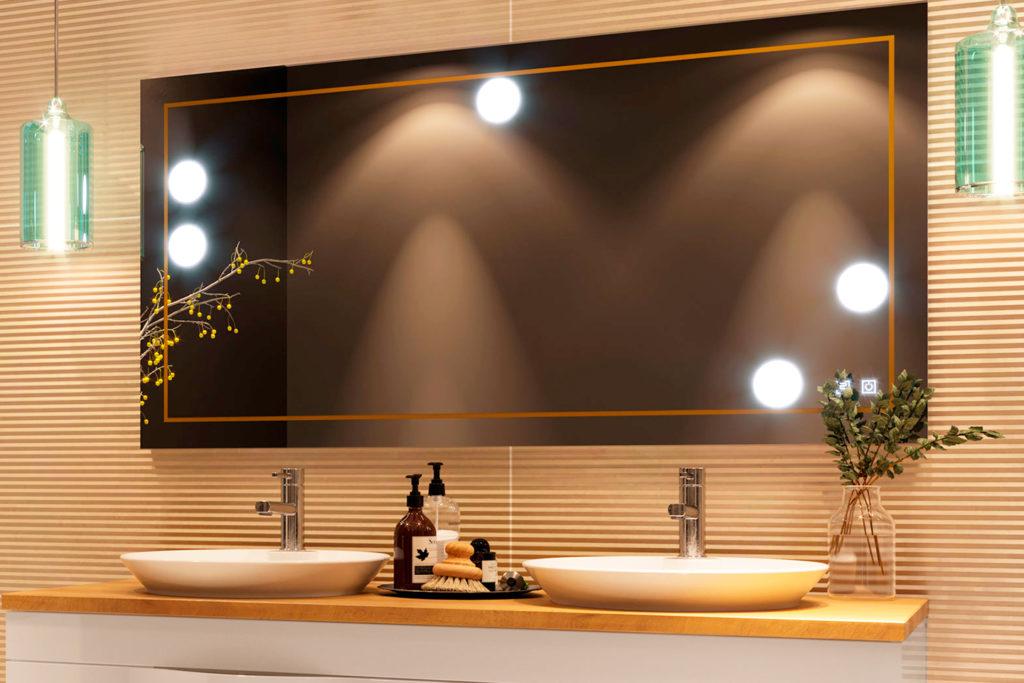 Miroir de salle de bain Tiffany par DECOTEC