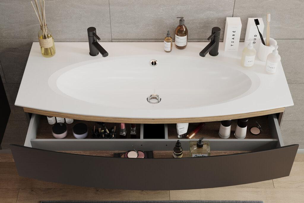 Meuble salle de bains vasque Bel Ami par DECOTEC