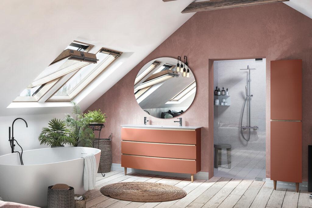 Meuble vasque et colonne Bel Ami par DECOTEC